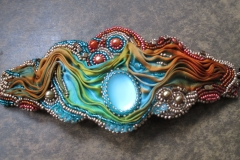 Bead-embroidery-cuff-in-blues-and-coppers